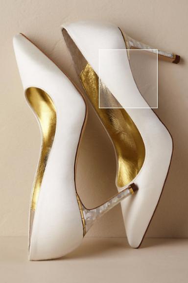 "Freya Rose ""Chelsea Ivory Heel"" - $445.00"
