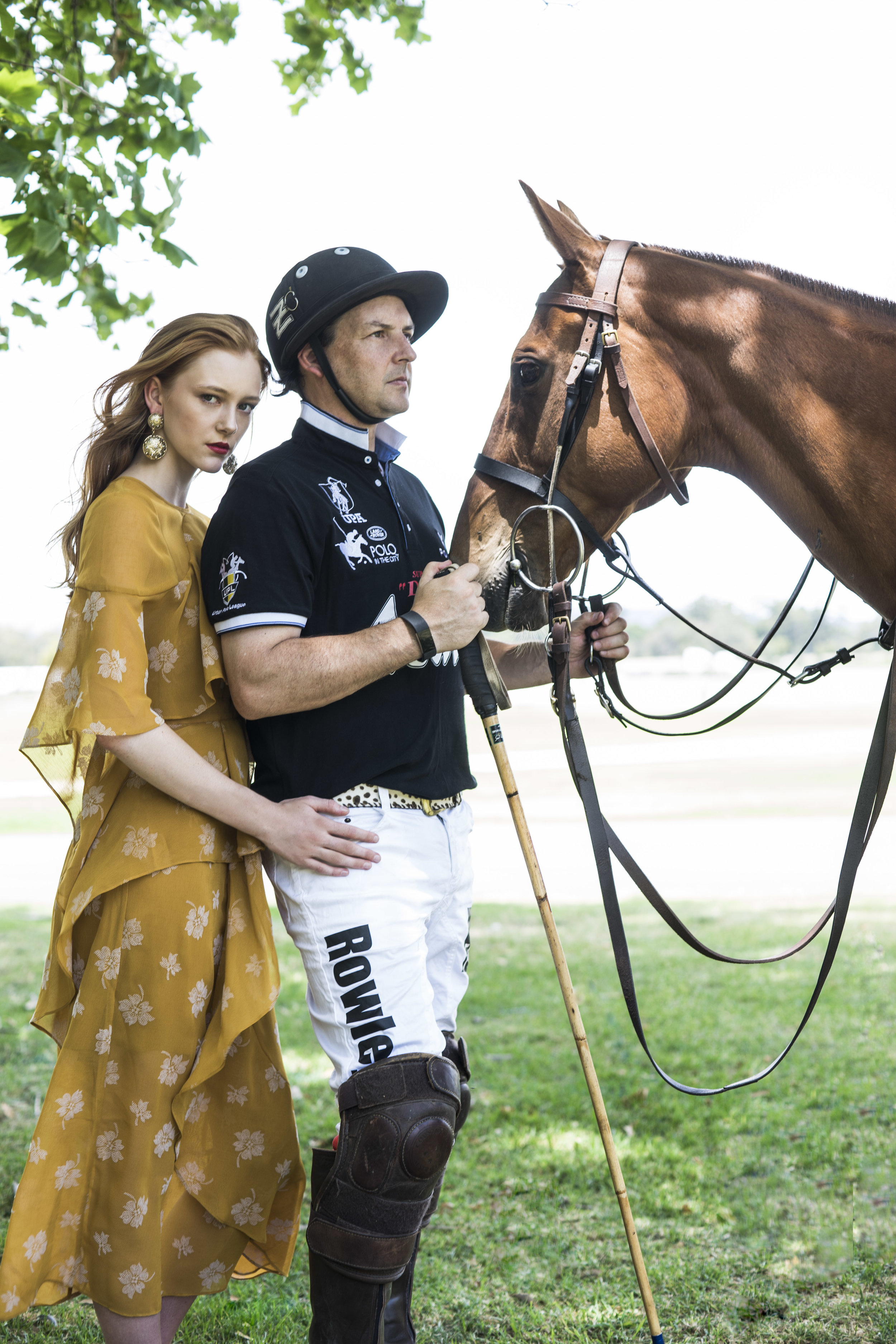 """Fashion with Mirella . """"Polo in the city""""  Polo inspired fashion at Victoria Park , Jamie Sara from Finesse, HAIR - Joe Cotrone- Zink The Element Of Hair Unley MAKE-UP- Mary Calandro  . Photo: Nick Clayton"""