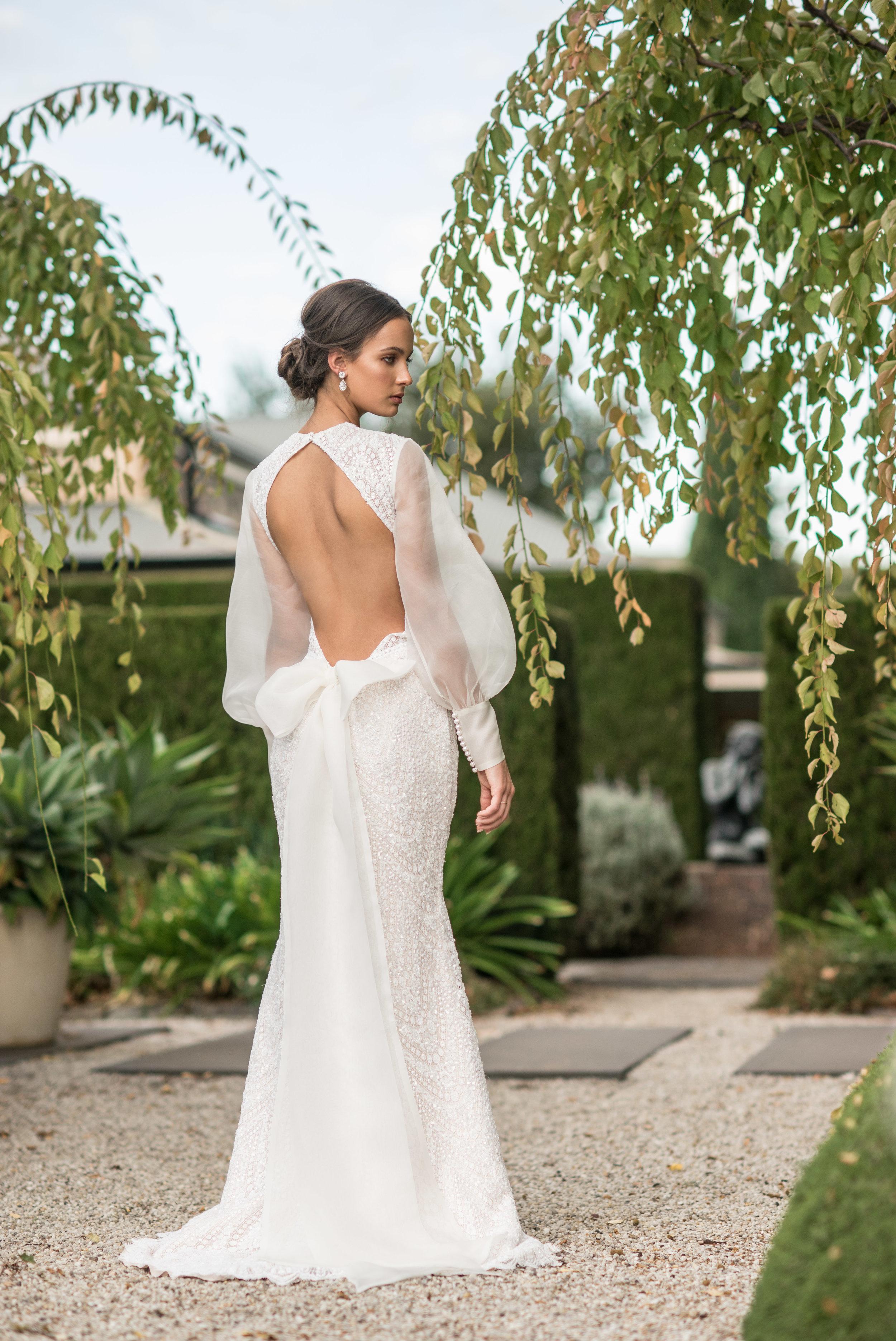 Fashion with Mirella , Bridal , Wedding dress, on location Mandalay House and Garden.  271 Back Callington Rd, St Ives SA 5252  Photo: Nick Clayton