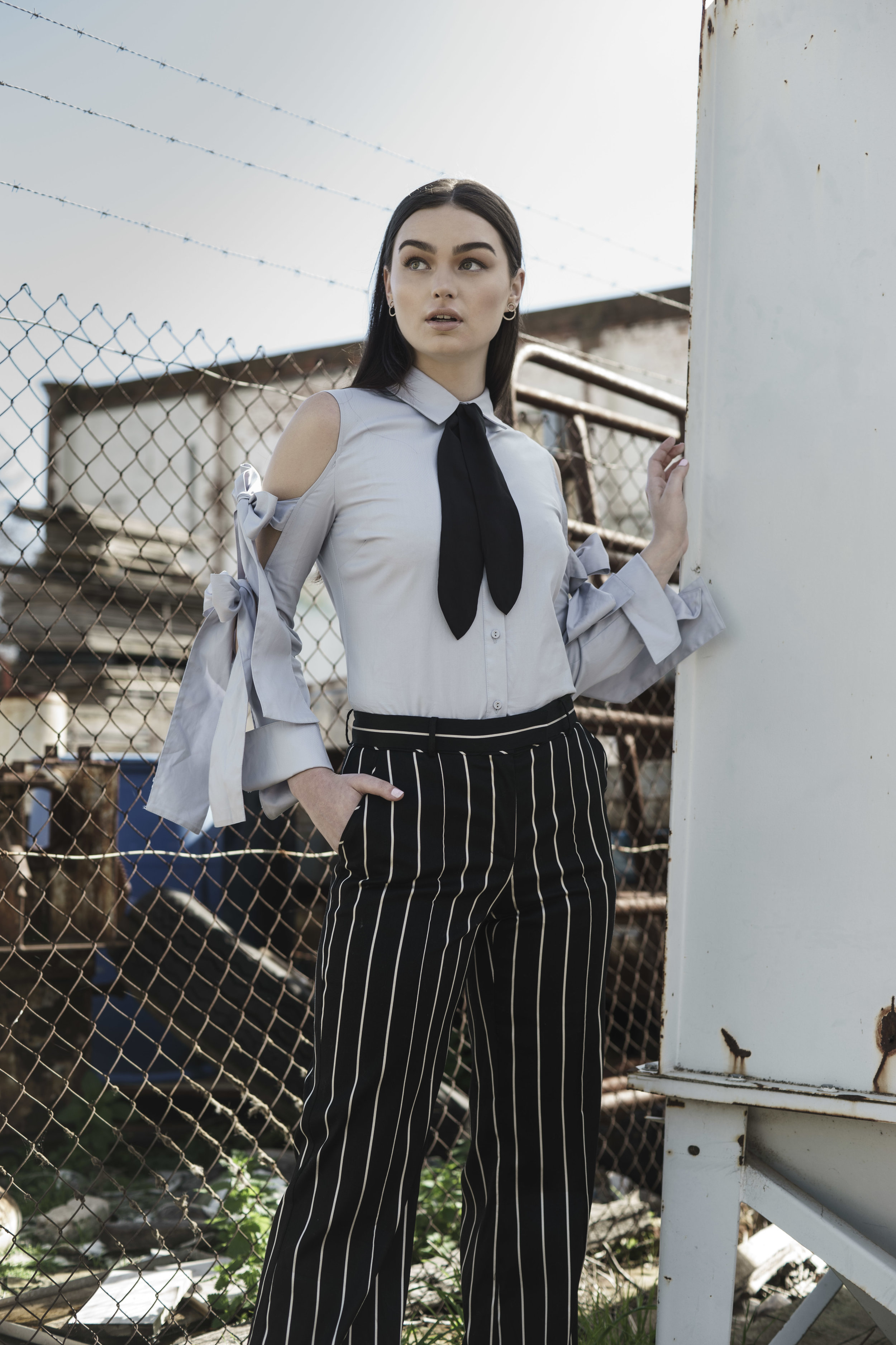 """Sunday Mail Fashion with Mirella, """"Manstyle"""" shot at Pt Adelaide, Model Page from Finesse Models.  Photo: Nick Clayton"""