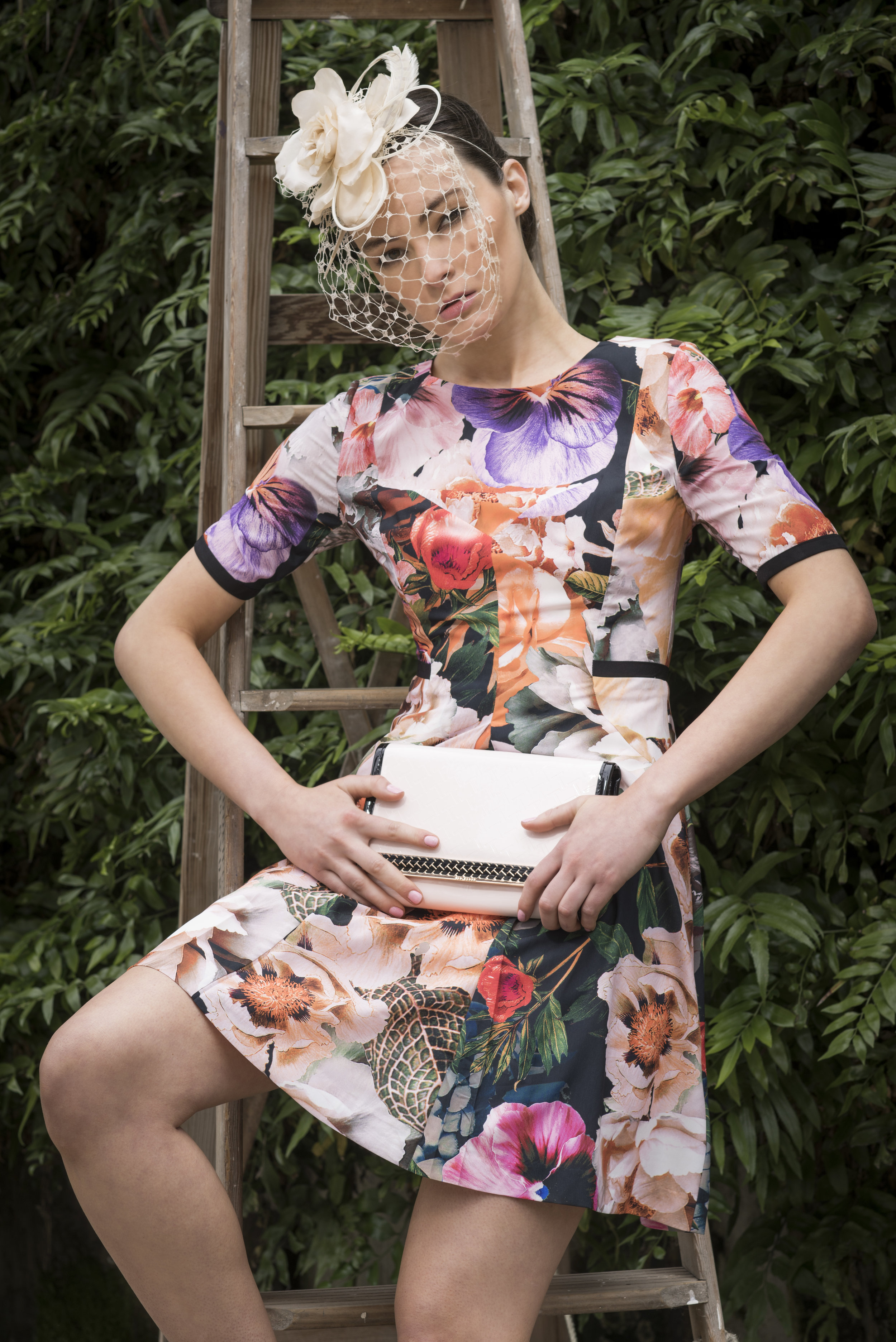Fashion with Mirella, Melbourne Cup . Laura Pinnuck from Finesse Models . Photo: Nick Clayton