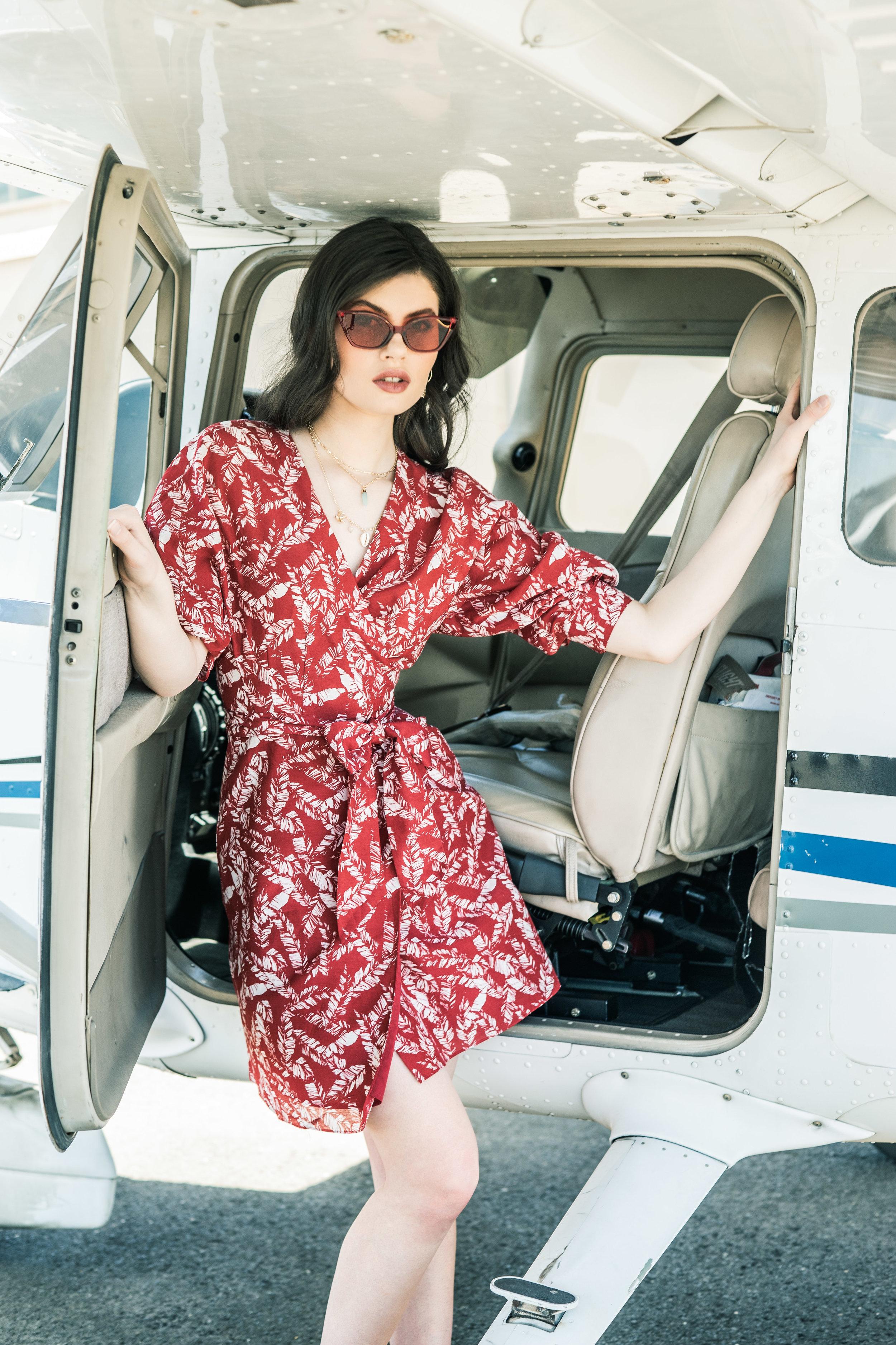 Sunday Mail Fashion with Mirella , Travel Fashion at Parfield Airport.  Photo: Nick Clayton