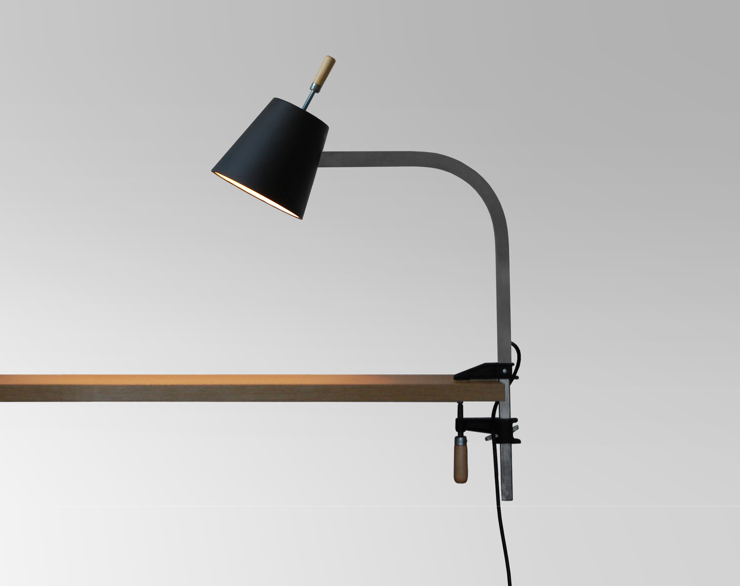 """Clamp Desk Lamp   Exhibition: LIFT HOLD ROLL 