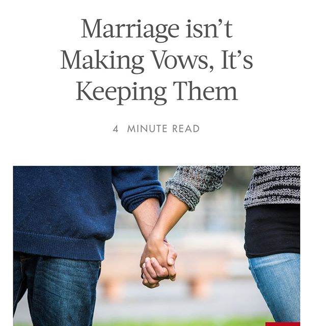 Thank you to @herviewfromhome for publishing my view on marriage. I rewrote my vows along the way as I discovered what is really important married or engaged or not. Link in bio for the full piece that led to these vows: . I vow to be better than I was, kinder than I thought I could be, and more forgiving than I want. . I vow to be honest with myself so that I can be honest with you. . . I vow to not expect perfection, as I cannot deliver it. . . . . #marriagevows #marriage #herviewfromhome #love #writerscommunity #work #divorce @herviewfromhome