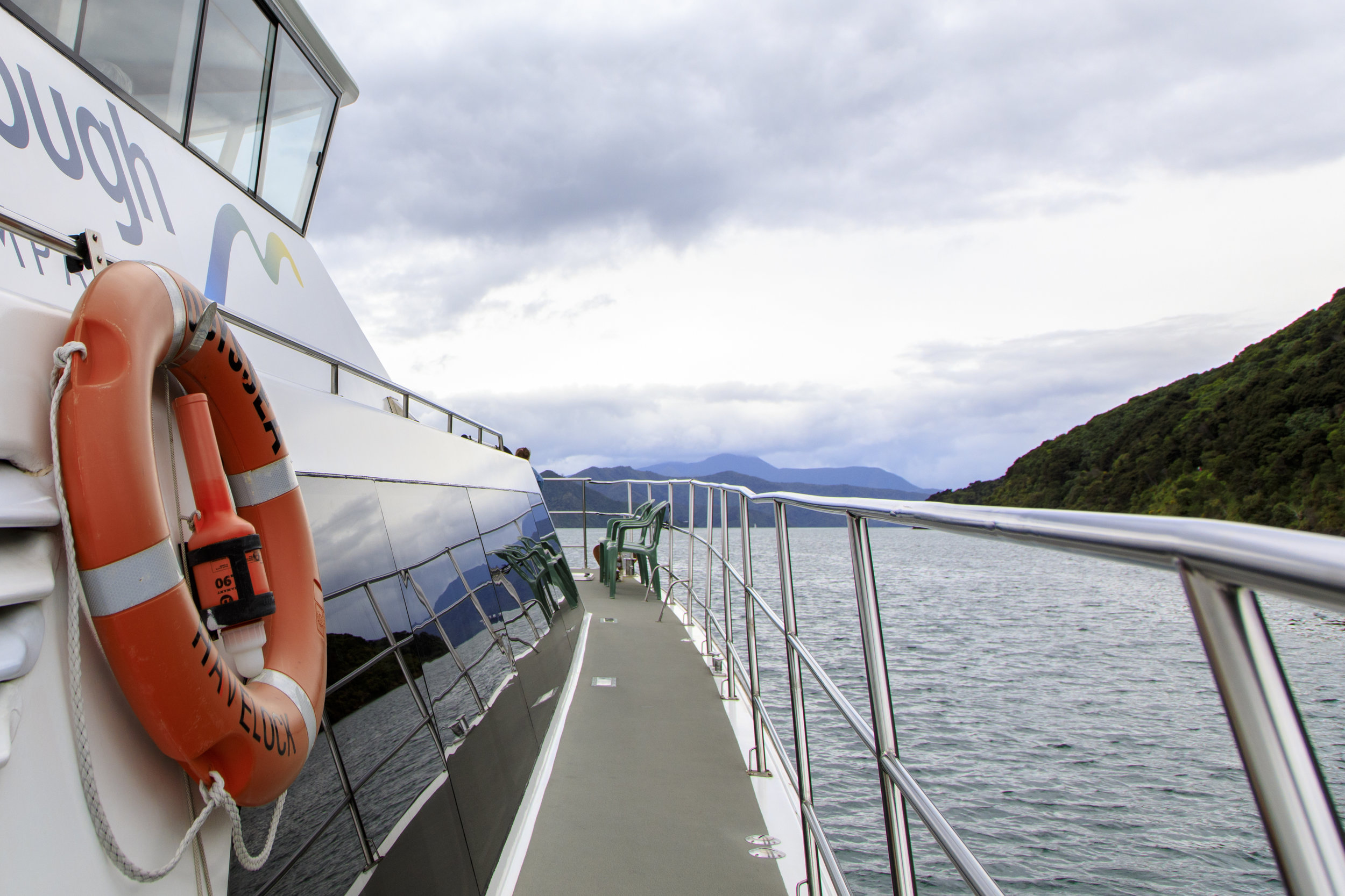 Marlborough Tour Company's Odyssey heading out from Picton
