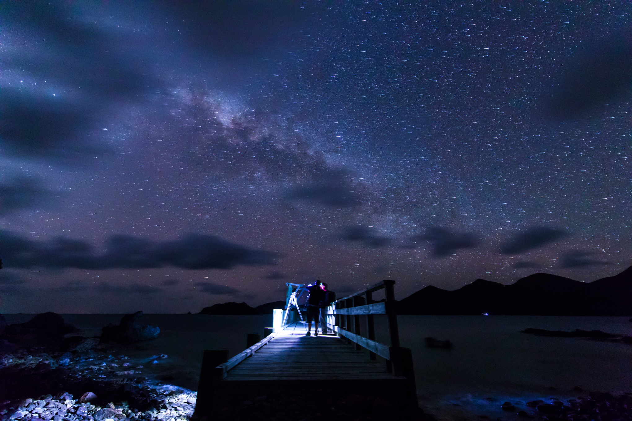 Photographing Great Barrier Island's amazing Dark Sky.