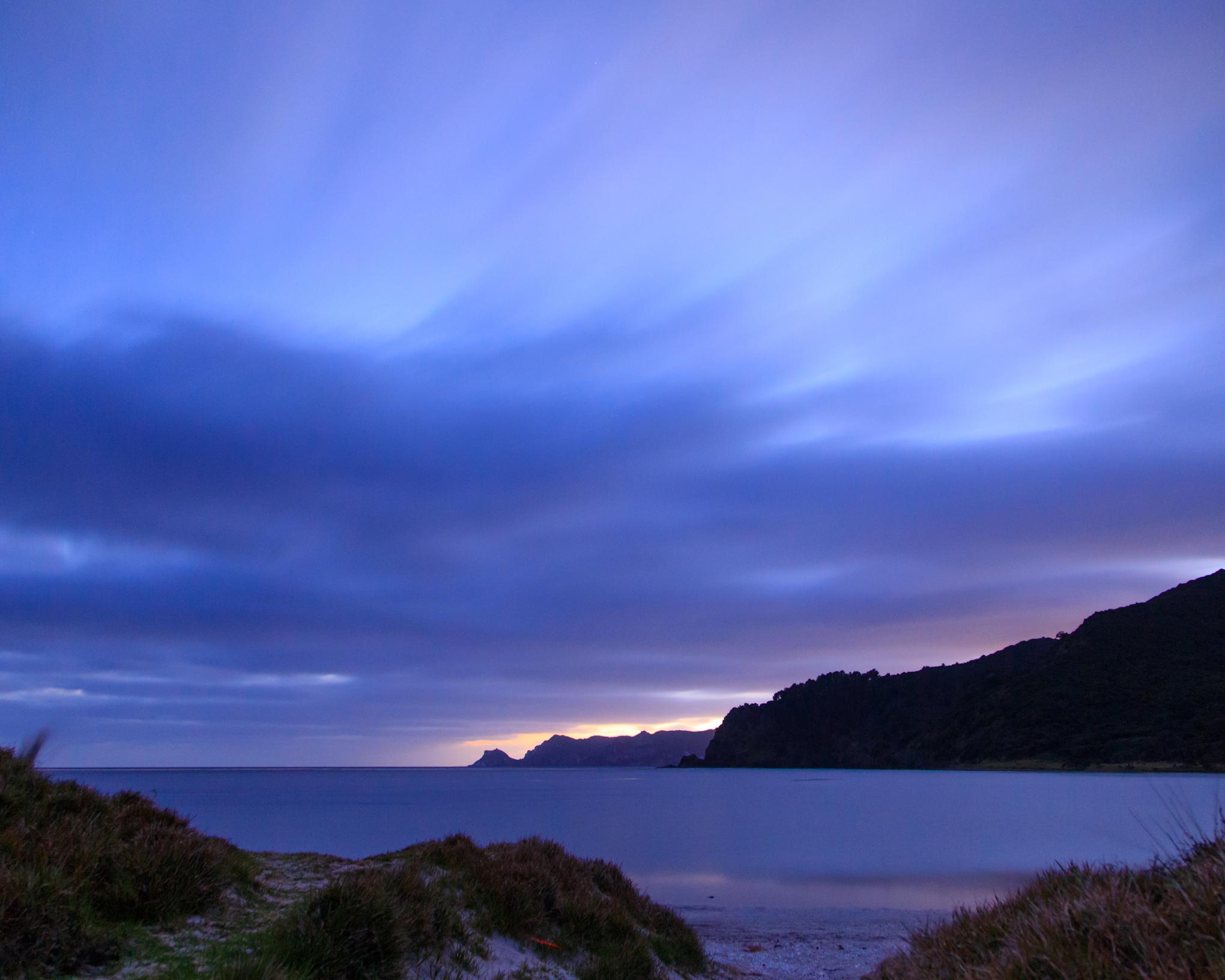 Sunrise at Whangapoua Beach
