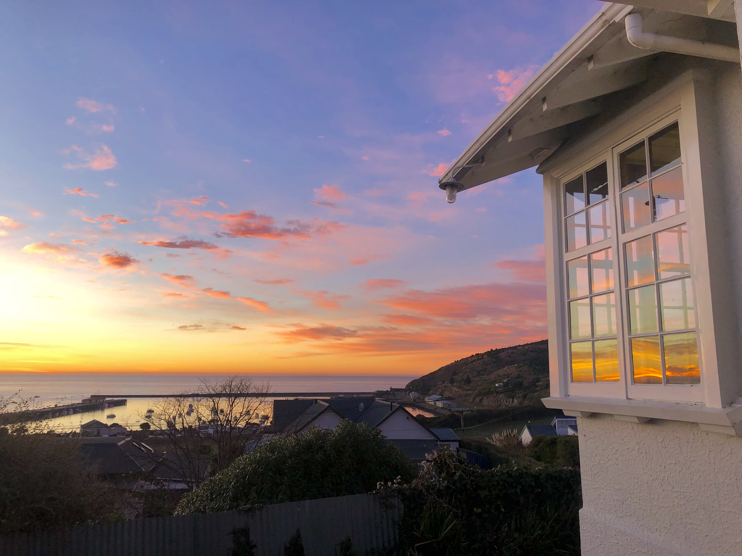 Sunrise from my accommodation