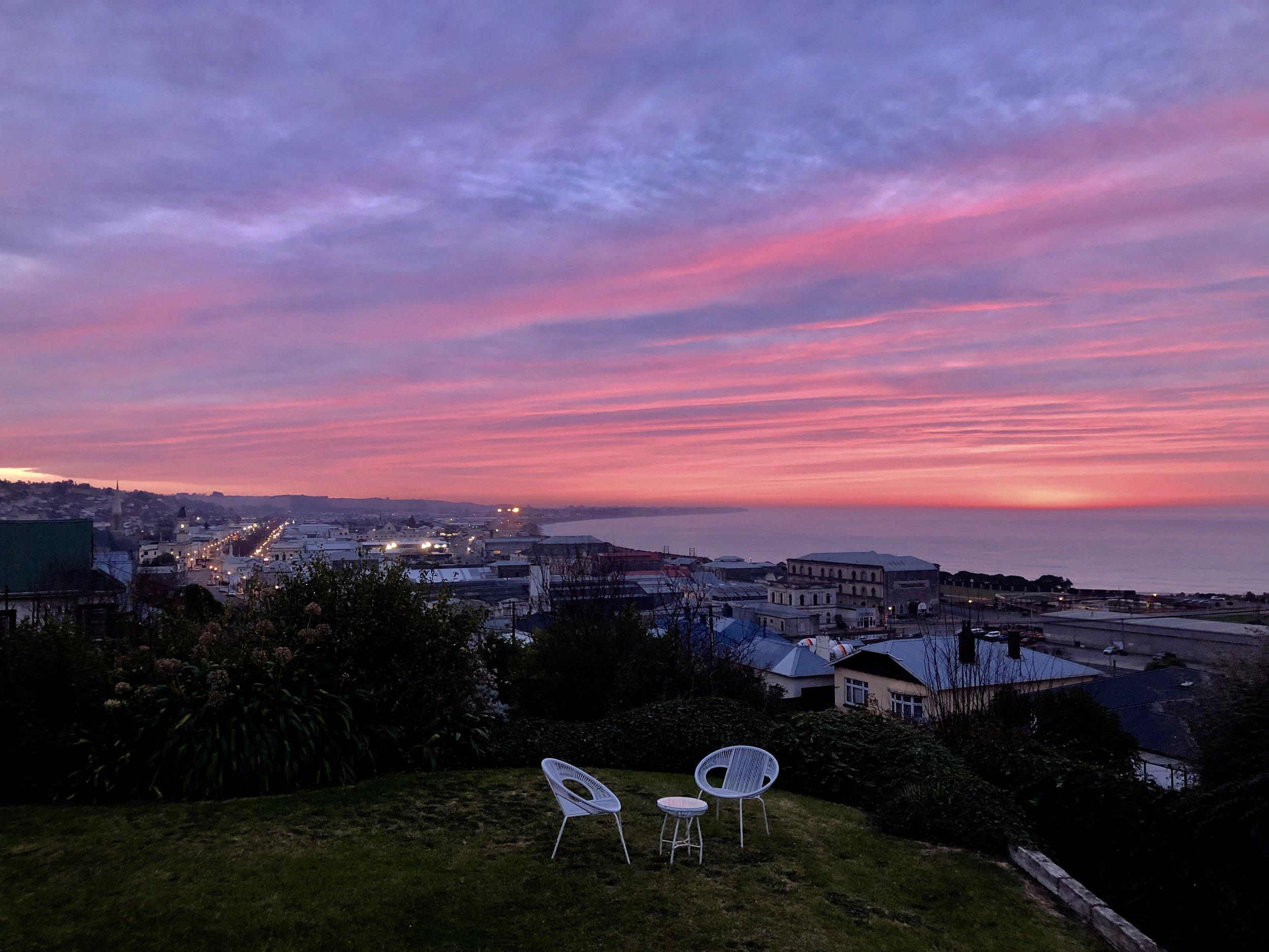 Sunrise over Oamaru