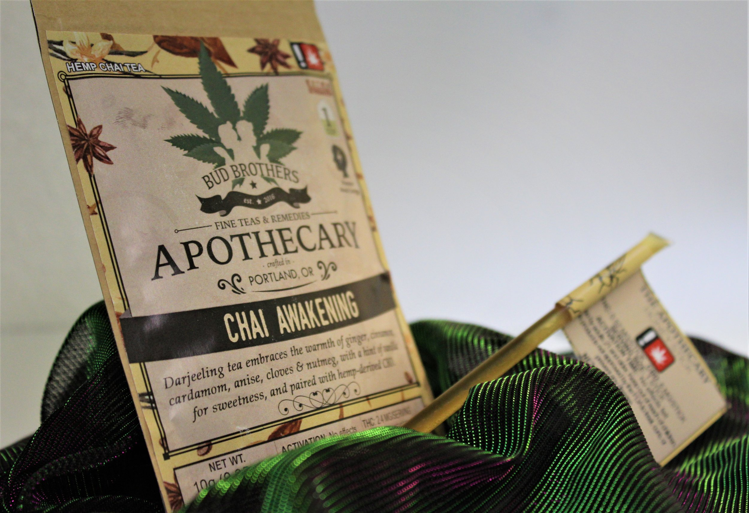 Chai Awakening Tea and Honey Stick from Bud Brother's Apothecary