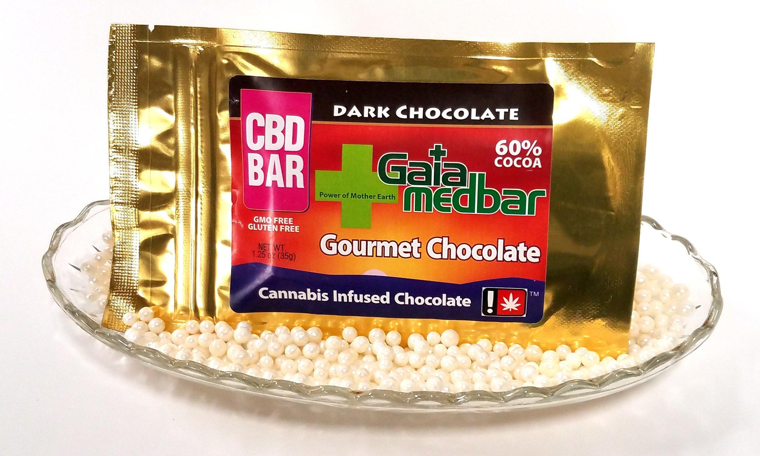 Dark Chocolate CBD Medbar from Gaia