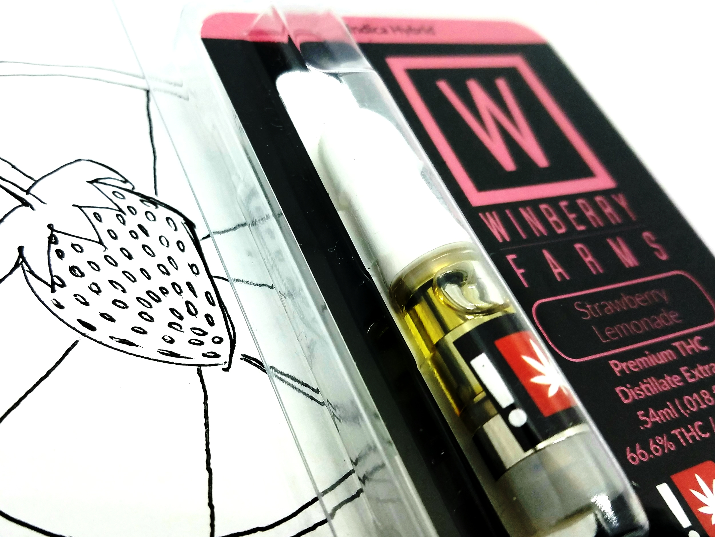 Strawberry Lemonade 1/2g distillate cartridge from Winberry Farms