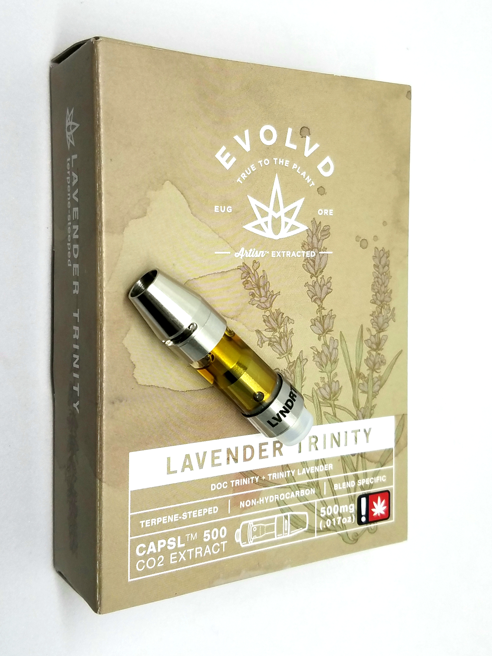 Lavender Trinity 1/2g cartridge from EVO