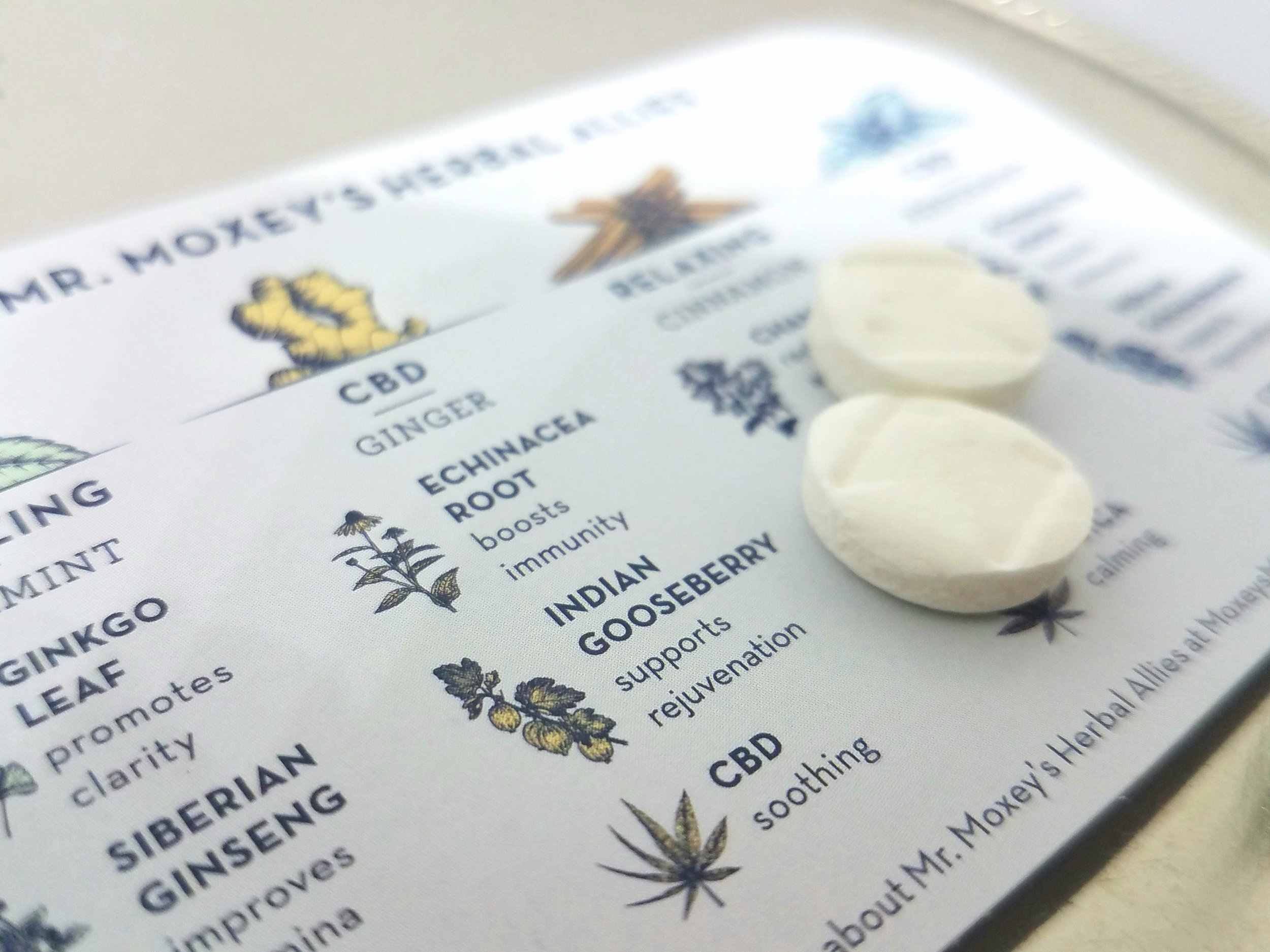 CBD Ginger Mints produced by Mr. Moxey's Mints