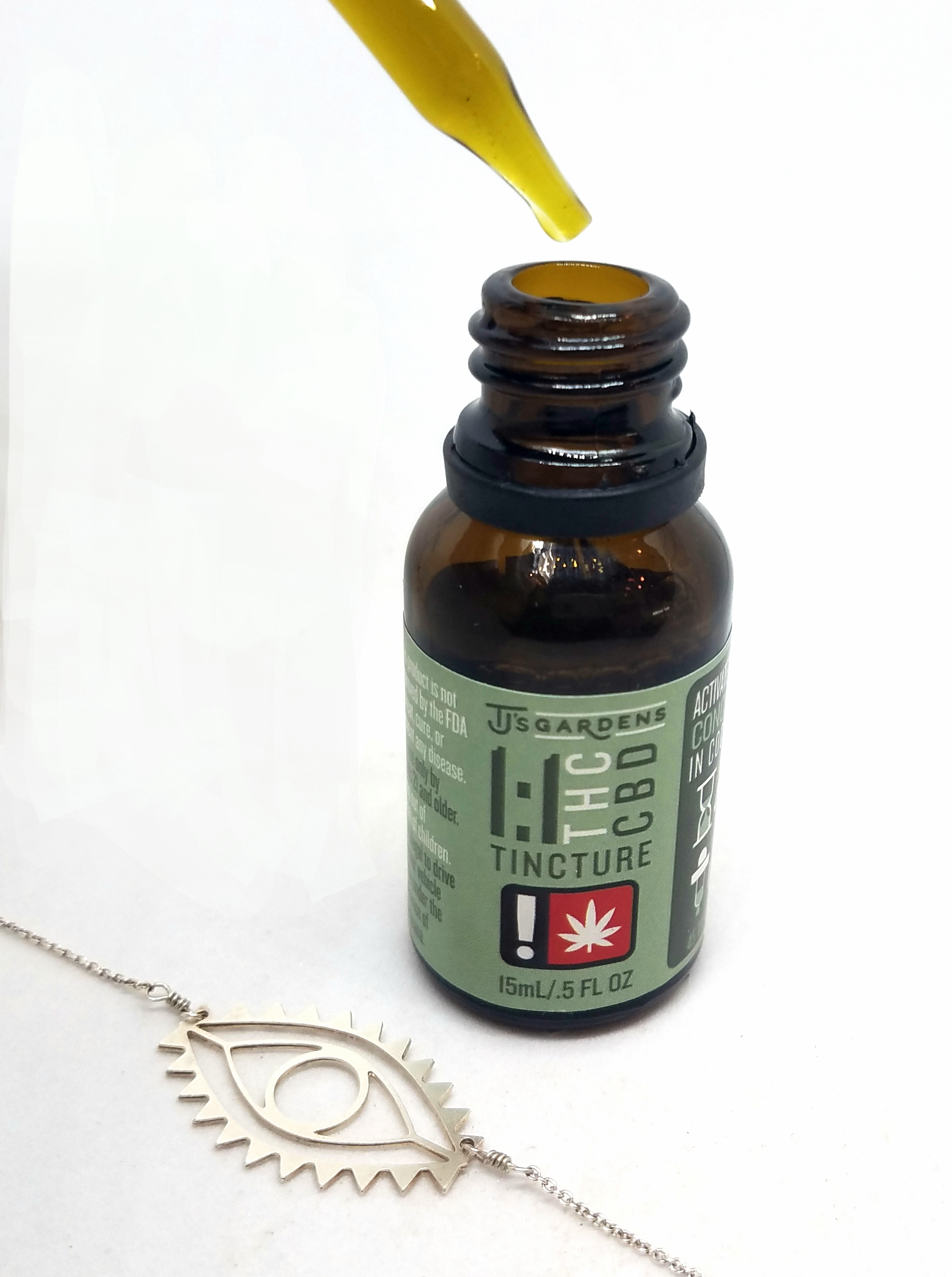 1:1 THC CBD Tincture produced by TJ's Gardens