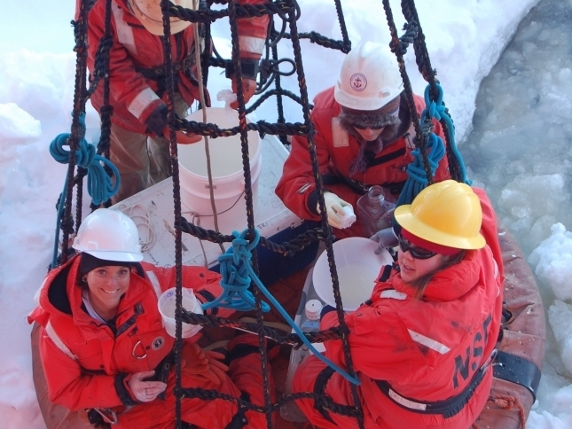 Collecting Sea Ice Algae