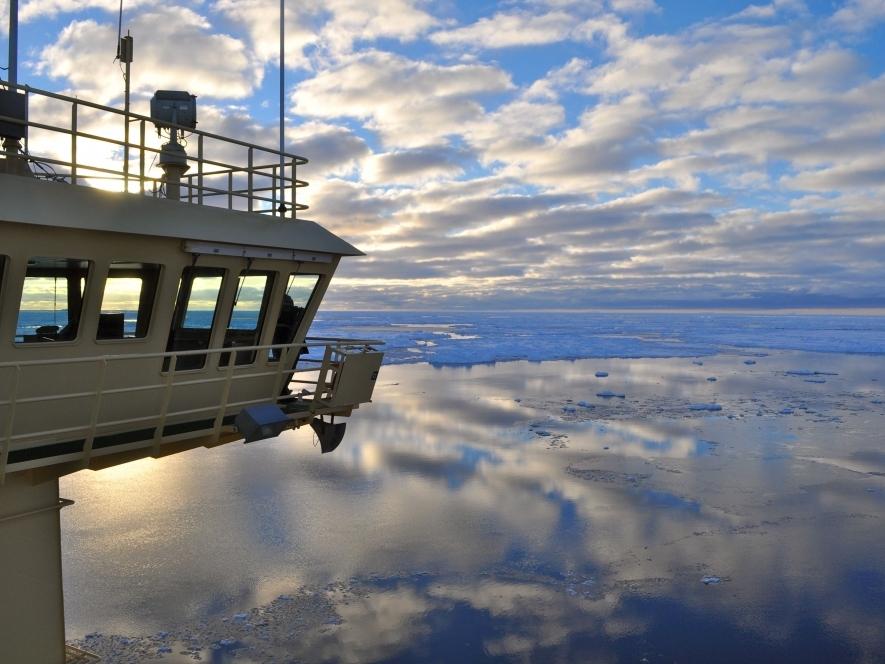 The Bridge of the U.S. Research Icebreaker Nathaniel B. Palmer