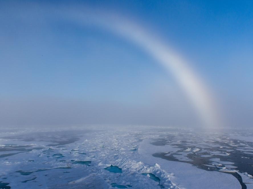 Icebow over the MIZ.