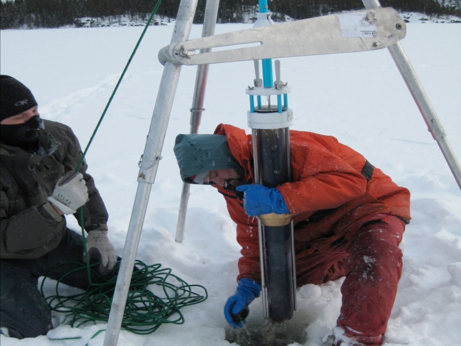 Collecting Sediment Cores