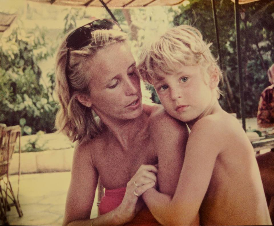 Jill and her son Luke in 1979