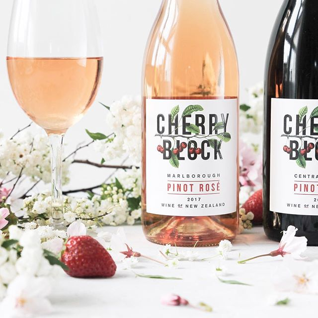 We're excited to finally introduce you to Cherry Block Pinot Rosé! Just in time for the rapidly approaching New Zealand summer. It's #delicious 🍒◼️🍷 . Contact our New Zealand distributor @NZWSM for stockists. . #cherryblock #cherryblockwine #nzwine #rosé #summer #nz #newzealand #wine #winery#vineyard #sommelier #cherry #block