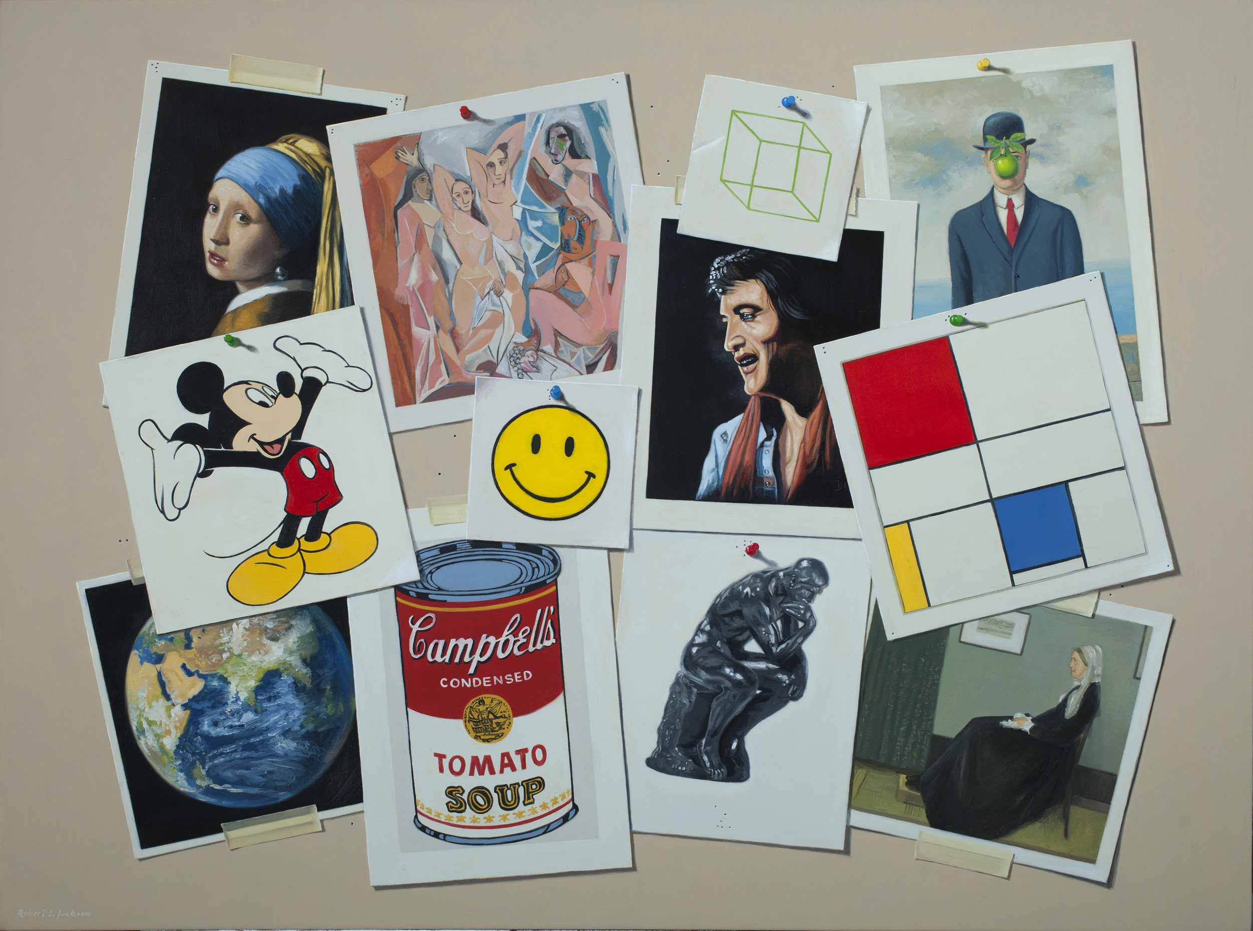 "Art Dialogs, Oil on linen 30"" x 40"""