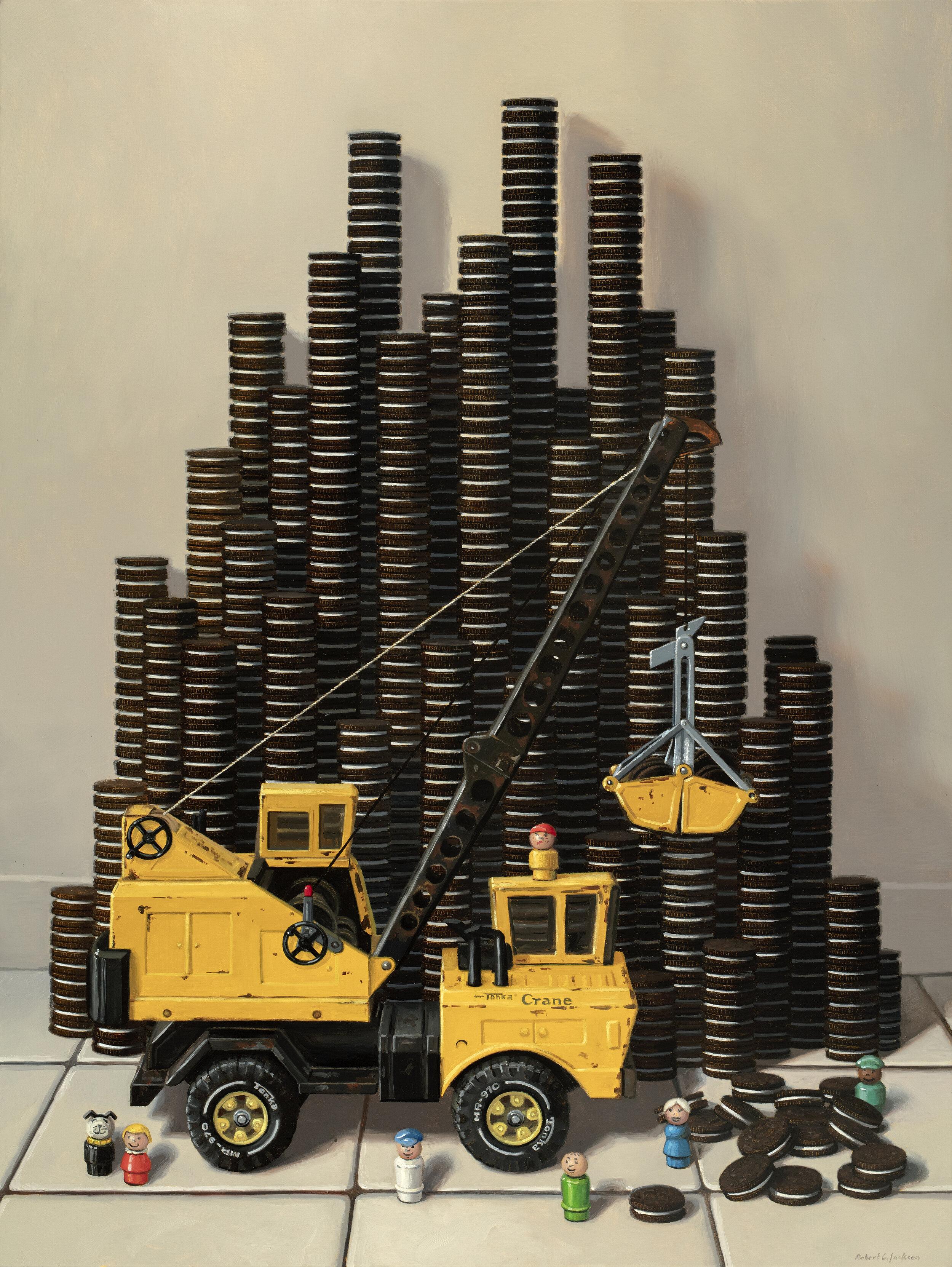 Constructing - Oil on Linen, 40