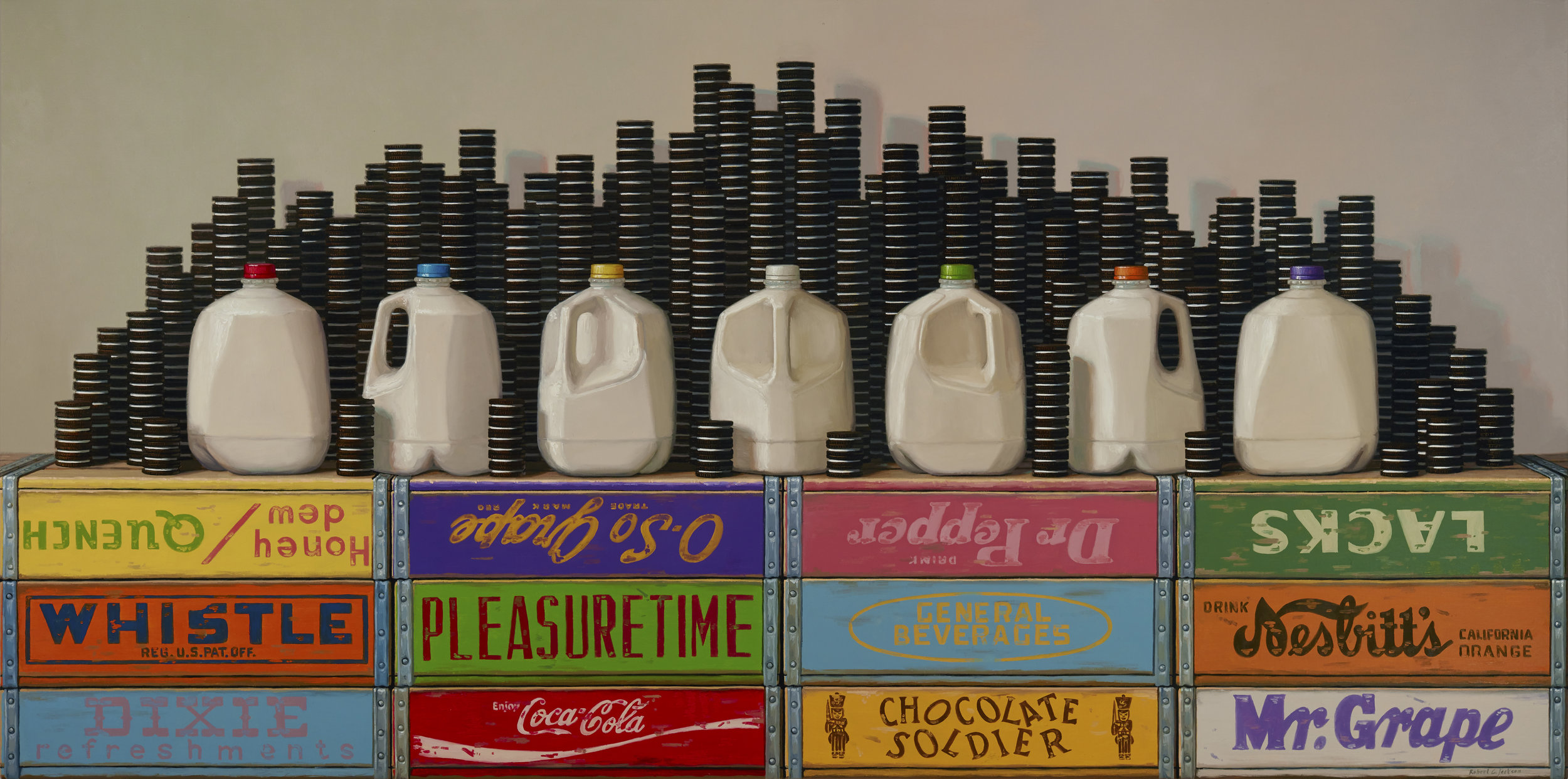 Phases of the milk - Oil on Linen, 36