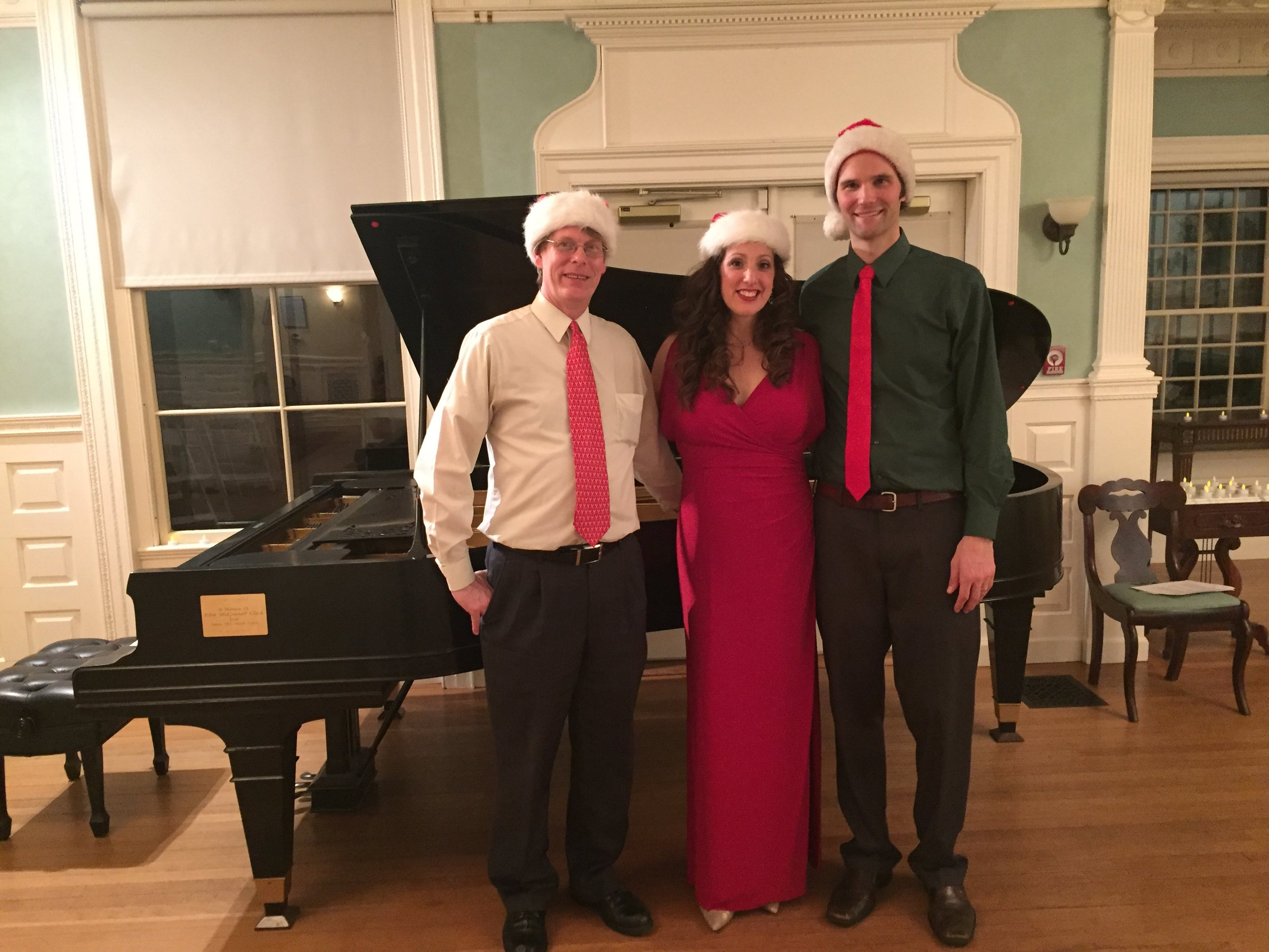 Christmas recital with Deborah Selig and Tim Steele