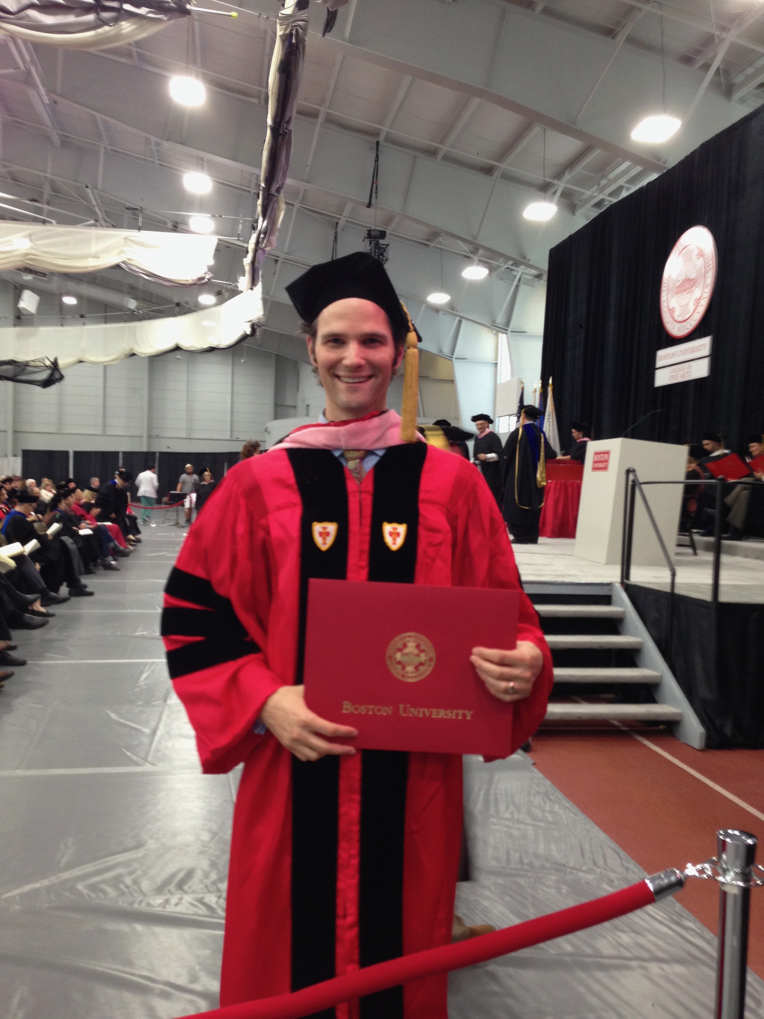 In regalia for my DMA graduation from Boston University.
