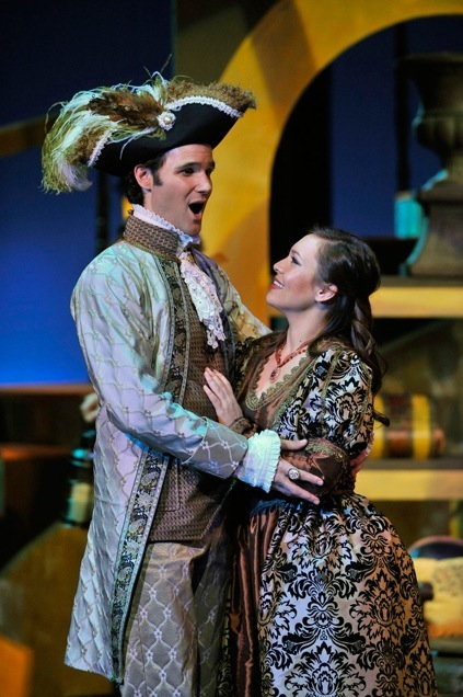 As Count Almaviva, Barber of Seville, Townsend Opera, with Irene Roberts as Rosina.