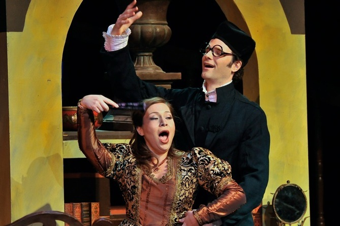 As Count Almaviva, Barber of Seville, Townsend Opera, with Irene Roberts.