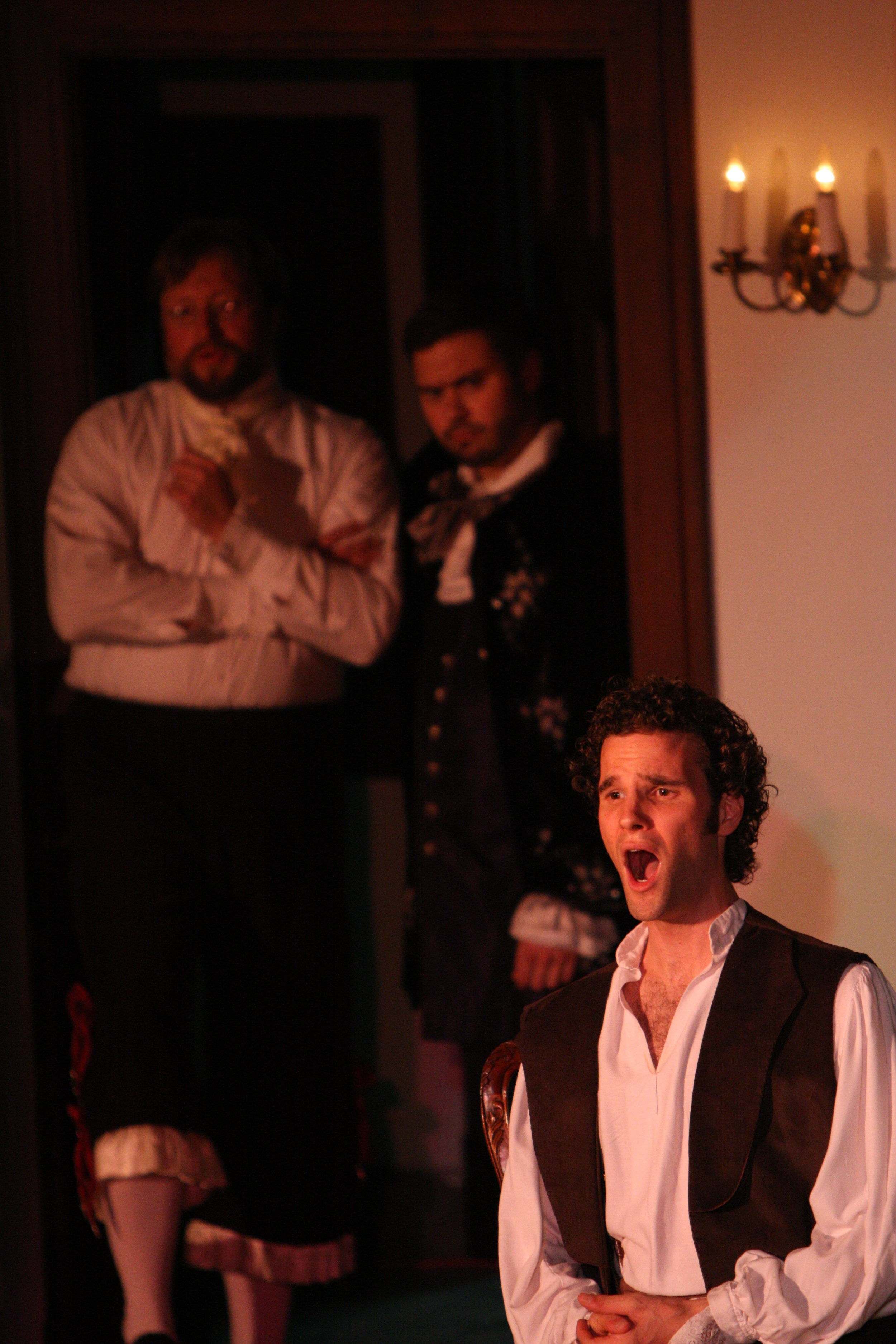 As Ernesto, Don Pasquale, Opera in the Heights, with Erik Kroncke and Mischa Bouvier