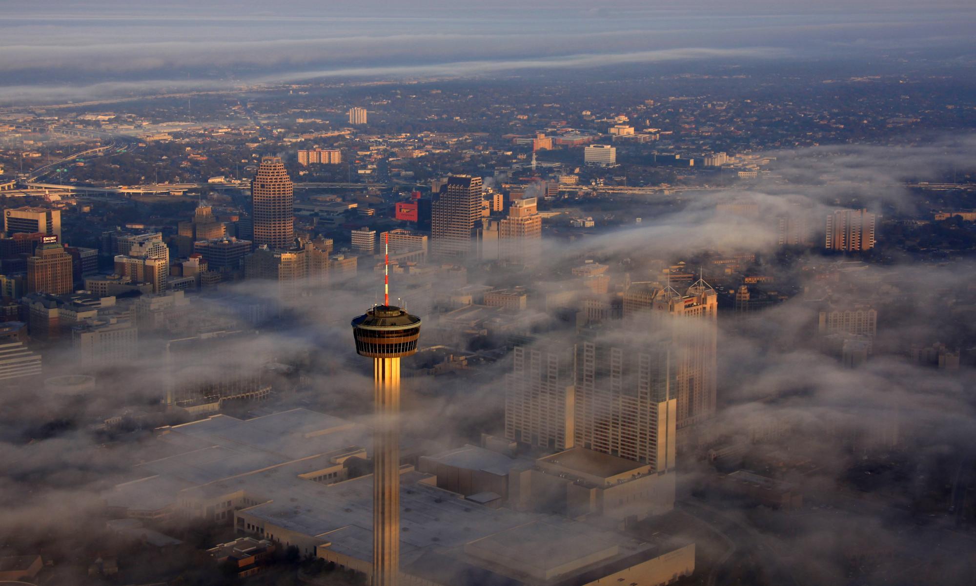 Whispy Dawn, San Antonio, Texas - Texas Aerial Photographer - Aerial Drone Photo Image - San Antonio, TX