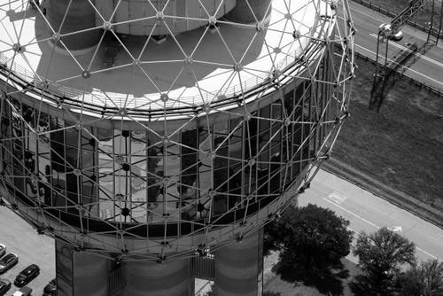 Reunion Tower - Dallas Aerial Photography Dallas - Aerial Drone Image - Aerial Drone Video - Dallas, TX