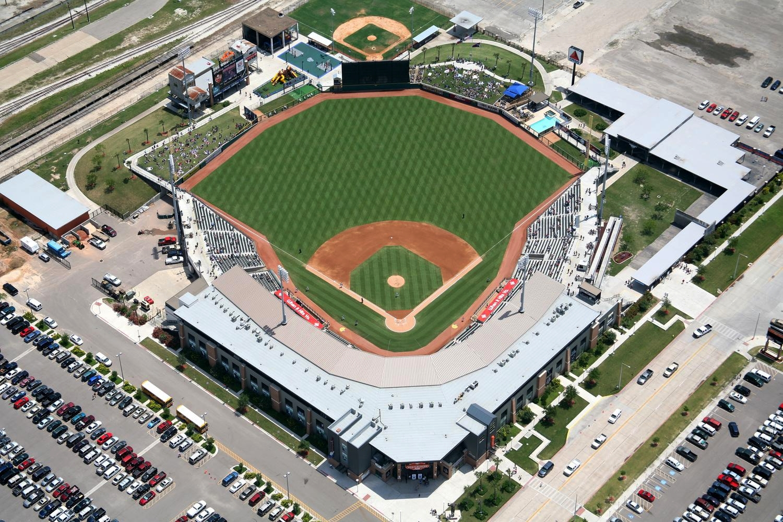 Whataburger Field - Corpus Christi Hooks Baseball, Corpus Christi, Texas - Corpus Christi Aerial Photography - Corpus Christi Real Estate Photography