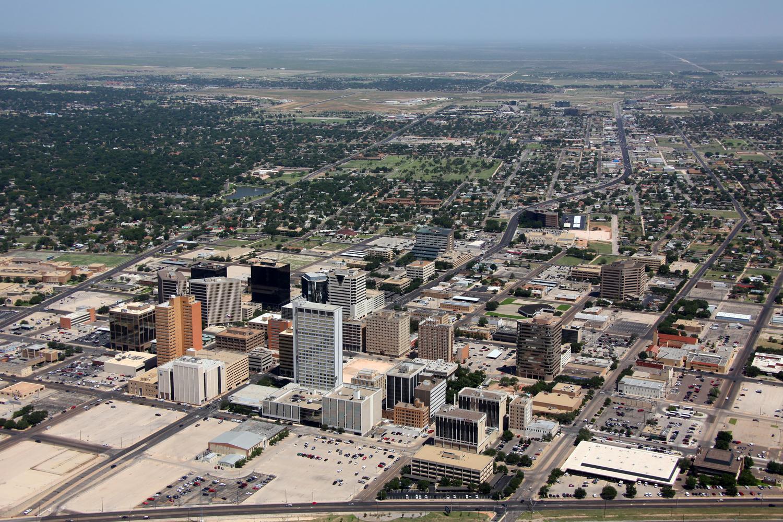 Downtown Midland CBD - Odessa Aerial Photography - Odessa Aerial Photographer - Aerial Drone Video - Odessa, Texas