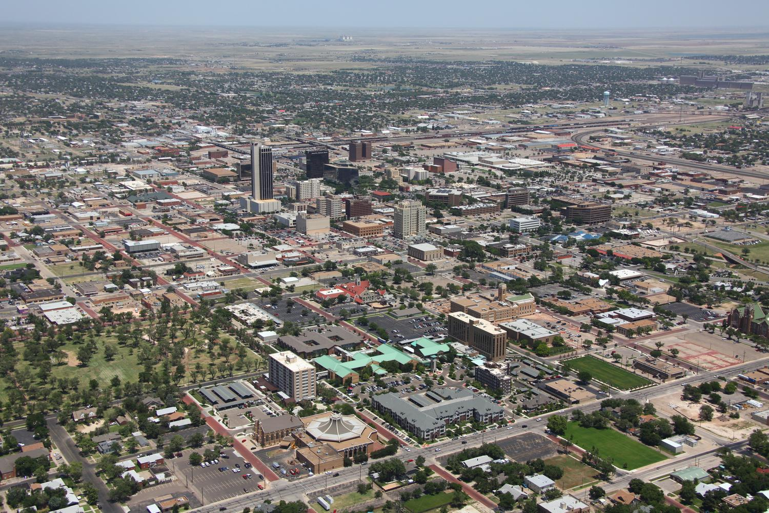 Amarillo CBD, Amarillo, Texas - Amarillo Aerial Photographer - Aerial Drone Image - Aerial Drone Video - Amarillo, TX - West Texas