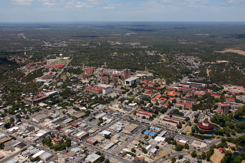 Texas State University, San Marcos, Texas - San Marcos Aerial Photographer - San Marcos Aerial Drone Image - Aerial Drone Video - San Marcos, TX - Central Texas