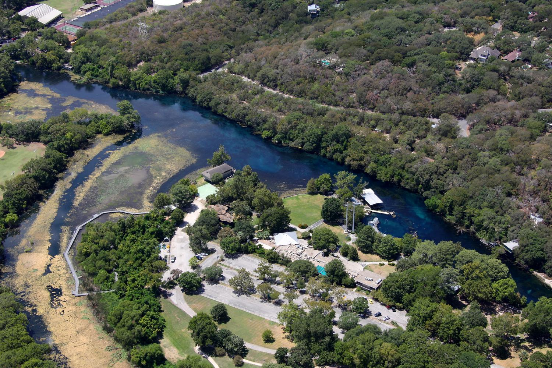 Aquarena Springs , San Marcos, Texas - San Marcos Aerial Photographer - San Marcos Aerial Drone Image - Aerial Drone Video - San Marcos, TX - Central Texas