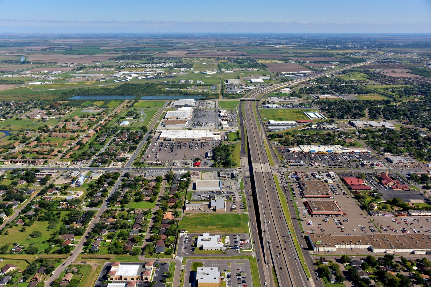 Hwy 83 Looking East, Weslaco, Texas - Weslaco Aerial Photographer - Aerial Drone Image - Aerial Drone Video - Weslaco, TX - Rio Grande Valley, Texas
