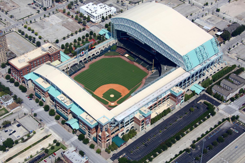 MinuteMaid Park - Houston Astros - Houston Aerial Photography - Houston Drone Photography - Houston, TX