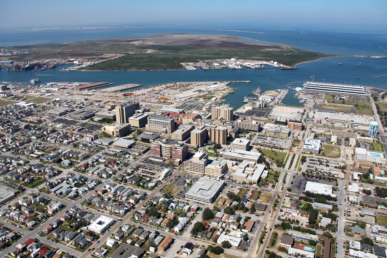 Galveston CBD, Galveston, Texas - Galveston Aerial Photographer - Aerial Drone Image - Aerial Drone Video - Galveston, TX