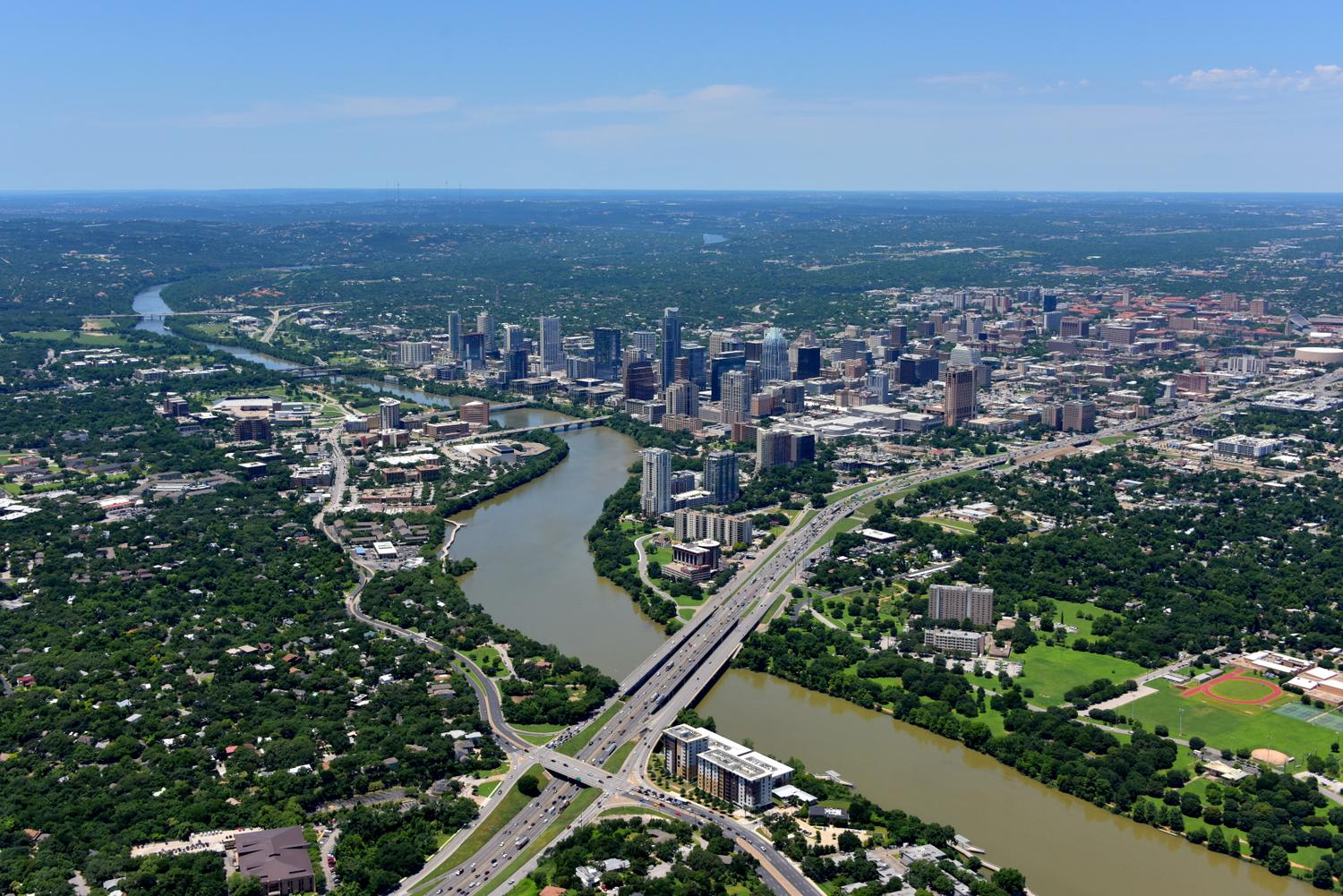 CBD Skyline, Austin, Texas - Austin Aerial Photographer - Austin Drone Video - Austin, TX