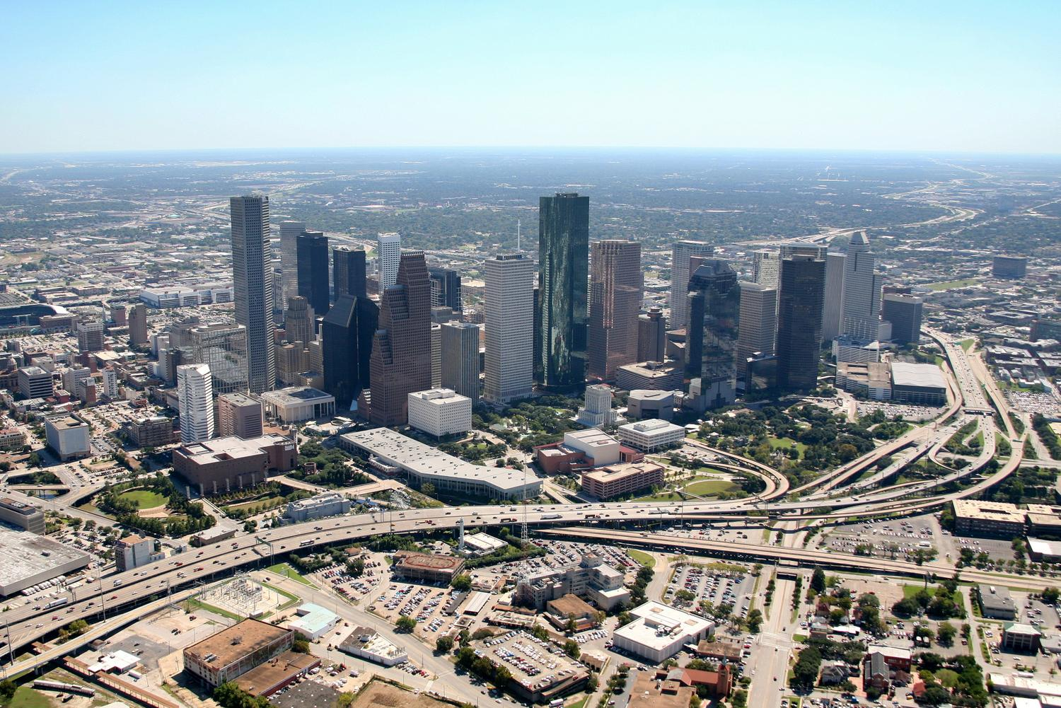 Houston CBD, Houston Texas - Houston Aerial Photography - Houston Drone Image
