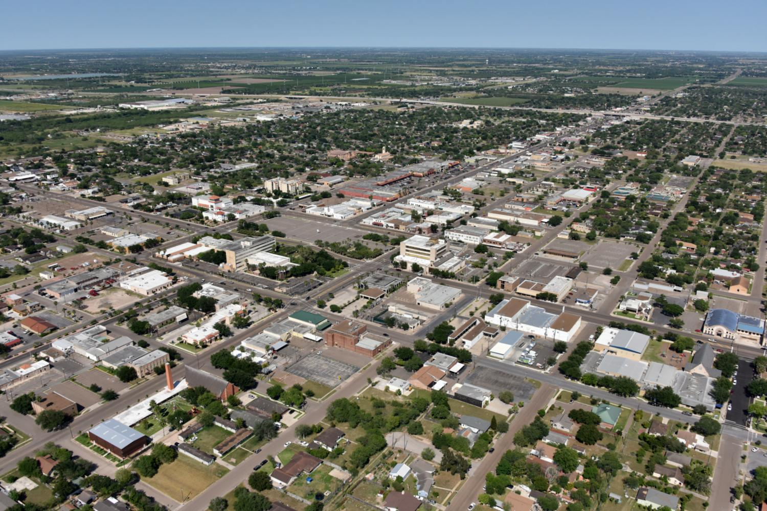 Downtown CBD - Edinburg Aerial Photographer - Aerial Drone Image - Aerial Drone Video - Edinburg, TX - Rio Grande Valley, Texas