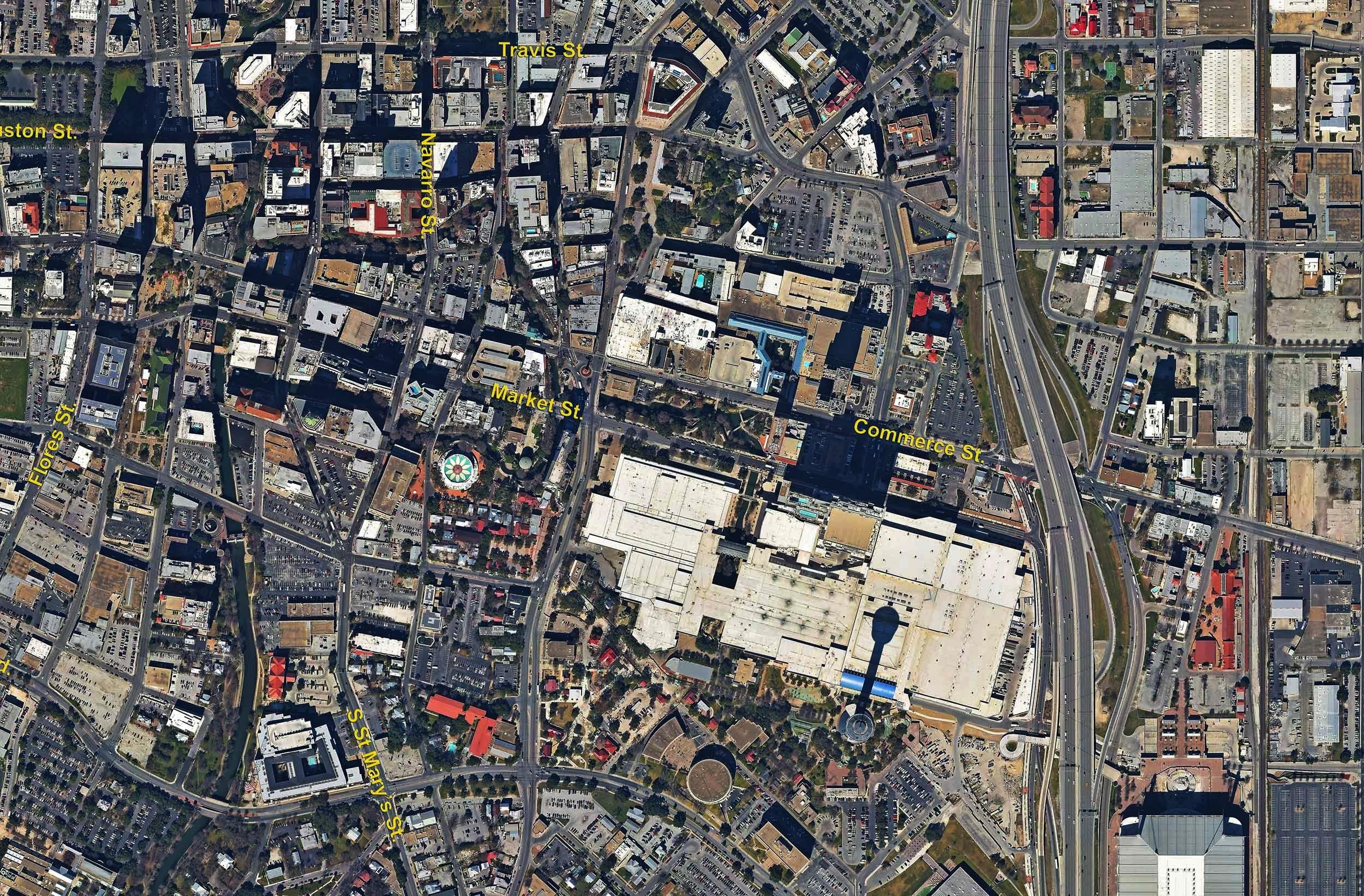 CBD Vertical Image, San Antonio, Texas - San Antonio Aerial Photography - San Antonio Vertical Drone Photography - San Antonio, TX