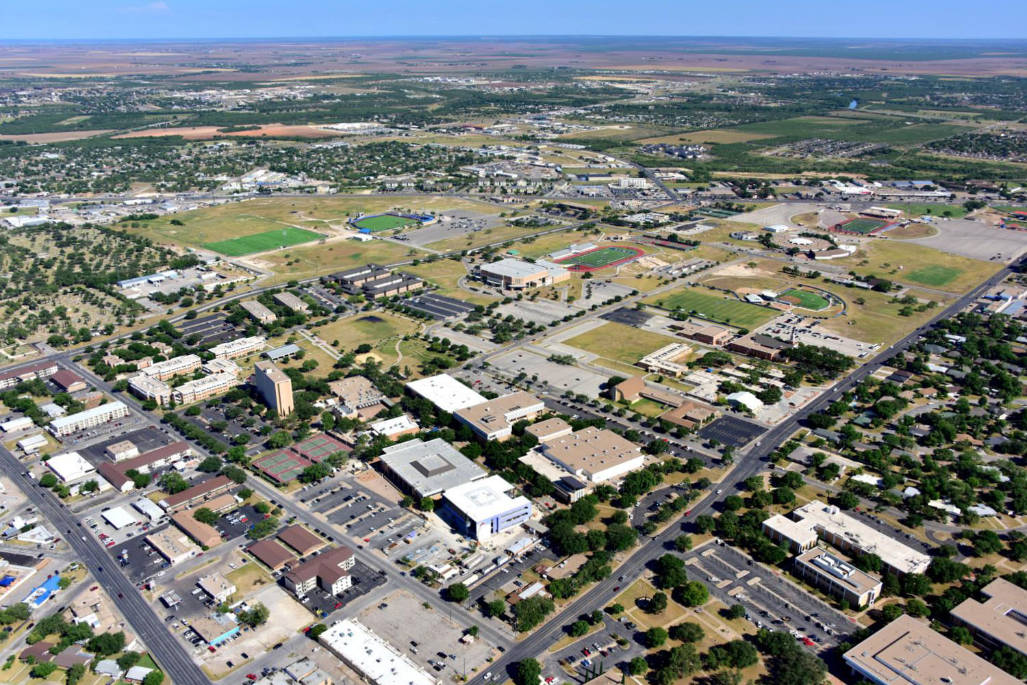 Angelo State University - San Angelo Aerial Photographer - Aerial Drone Image - Aerial Drone Video - San Angelo, TX - West Texas