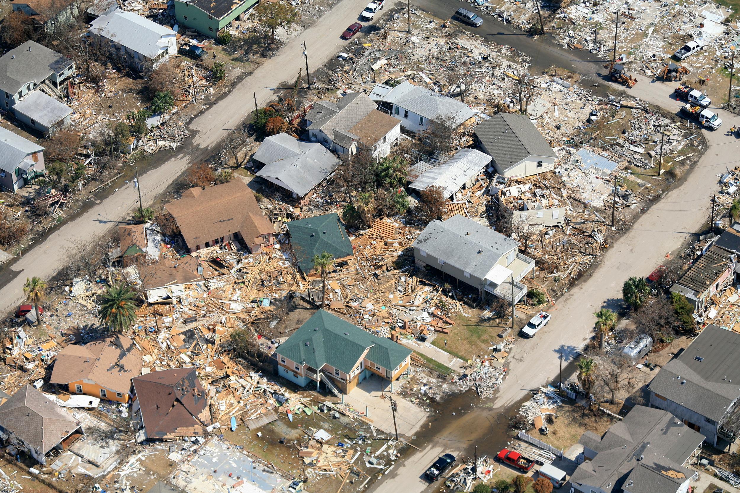 Hurricane Aerial Photography, Corpus Christi, Texas - Corpus Christi Aerial Photography - Corpus Christi Hurricane Photography