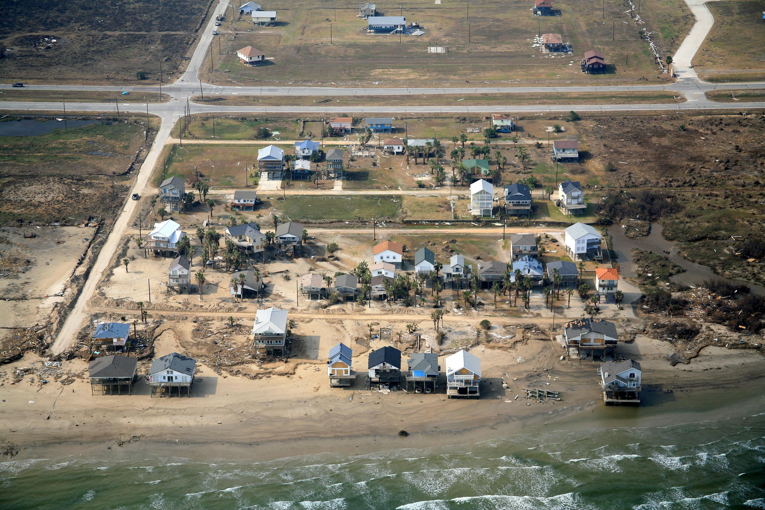 Post-hurricane aerial inspections from drone, helicopter, or airplane all along the Texas coastal bend including Corpus Christi, Houston, Galveston, Victoria, Port Lavaca, Rockport, Aransas Pass, Texas.